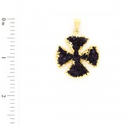 Druzy Shape - Maltese Cross - 7091