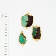 African Chrysoprase 2 Bail - Electro-formed