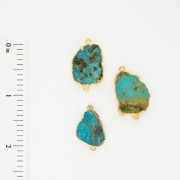 Turquoise 2 Bail Electro-formed