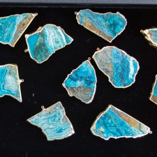 Chrysocolla Slices