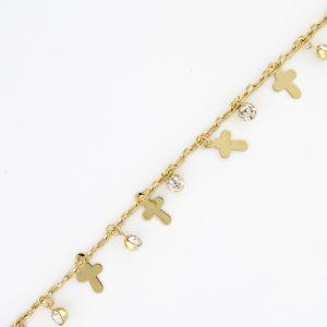 Dangle Cross w/Crystal
