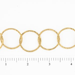 Circles Hammered Large Chain