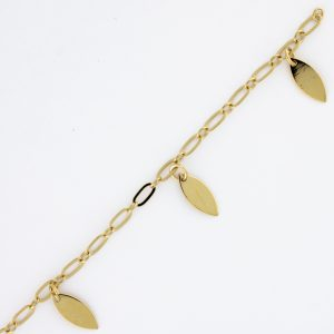 Jasmine small with Leaf Dangle large
