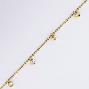 CZ Heart Dangle Chain
