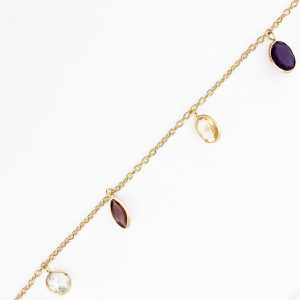 Multi Color Gemstone Teardrop Dangle